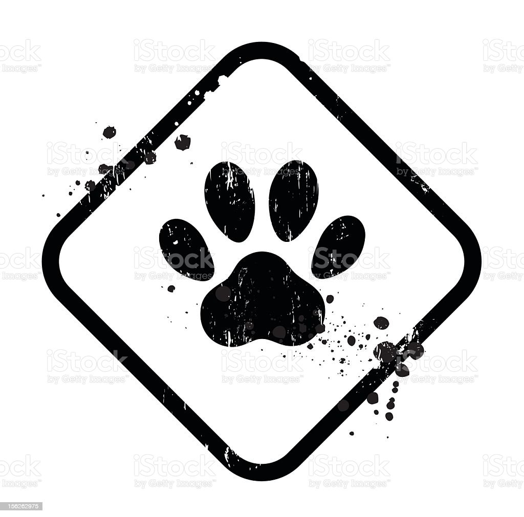 paw sign stock photo