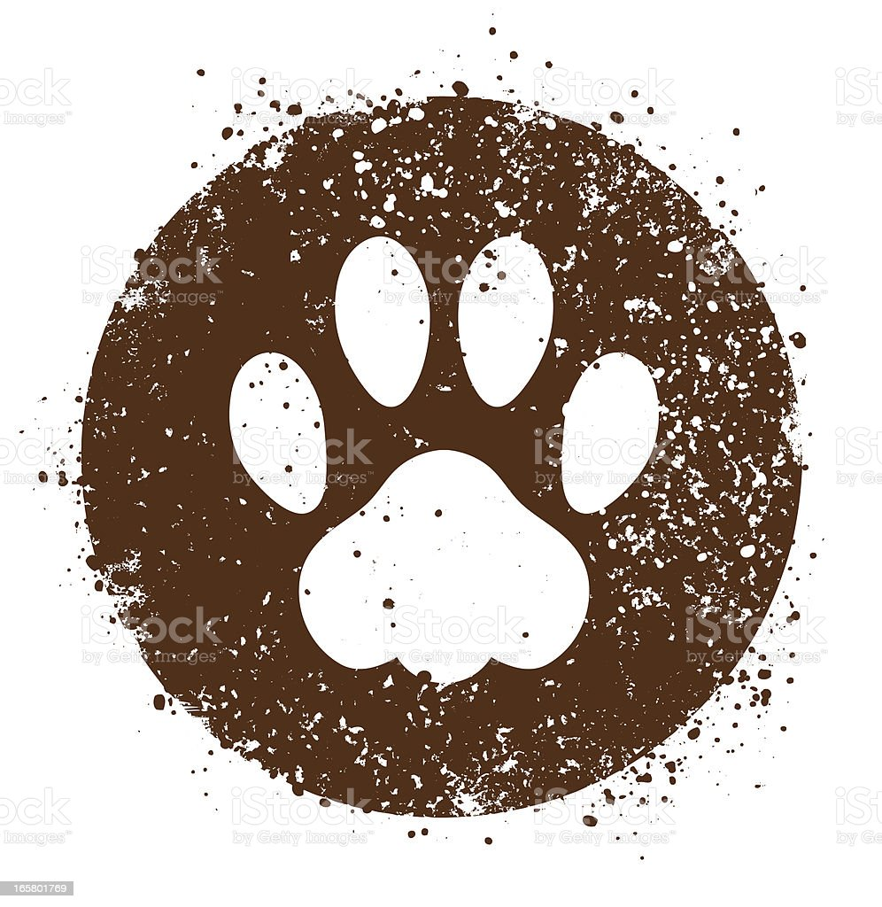 Paw sign royalty-free stock vector art