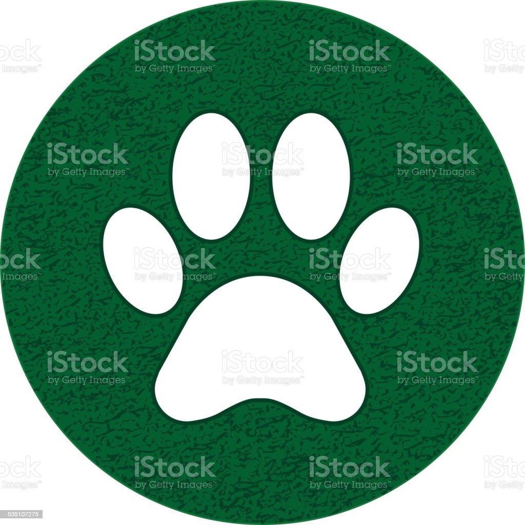 Paw sign vector art illustration