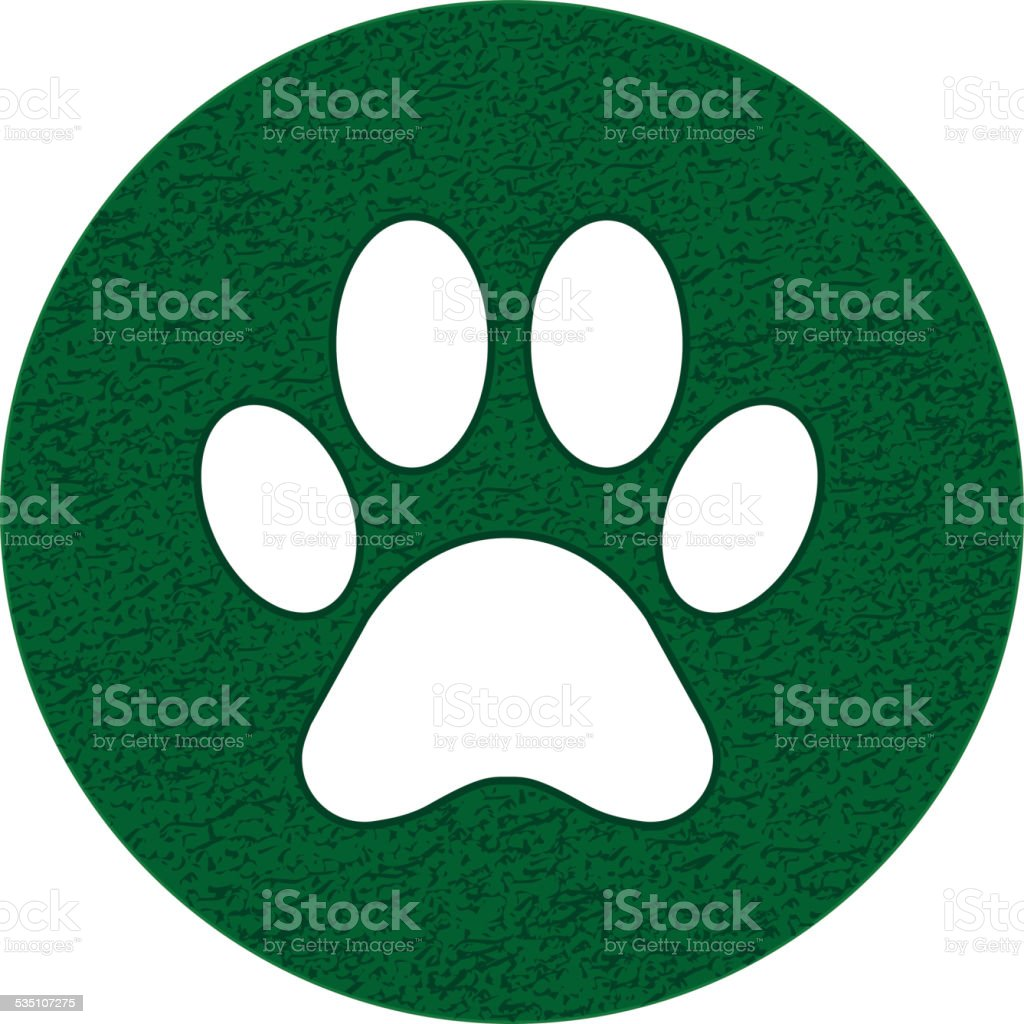 Paw sign vector art illustration