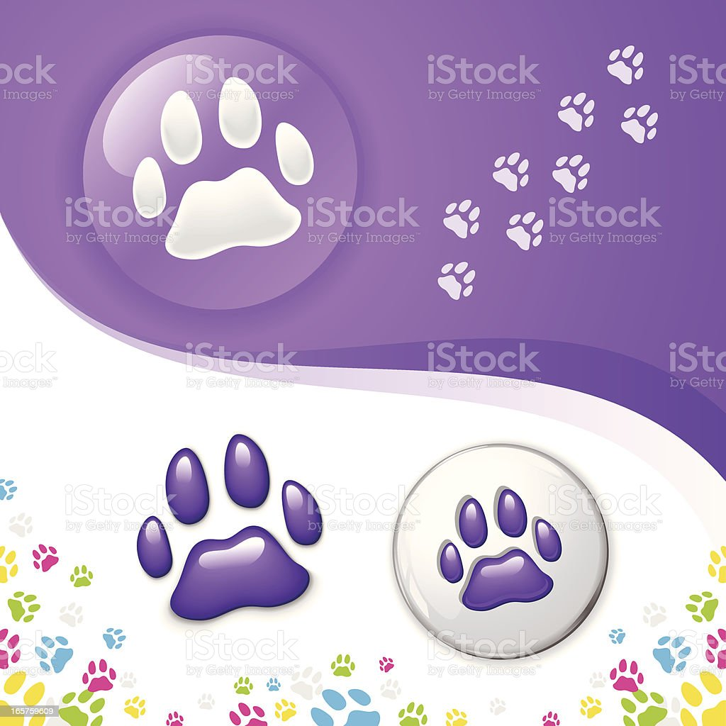 Paw Symbol royalty-free stock vector art
