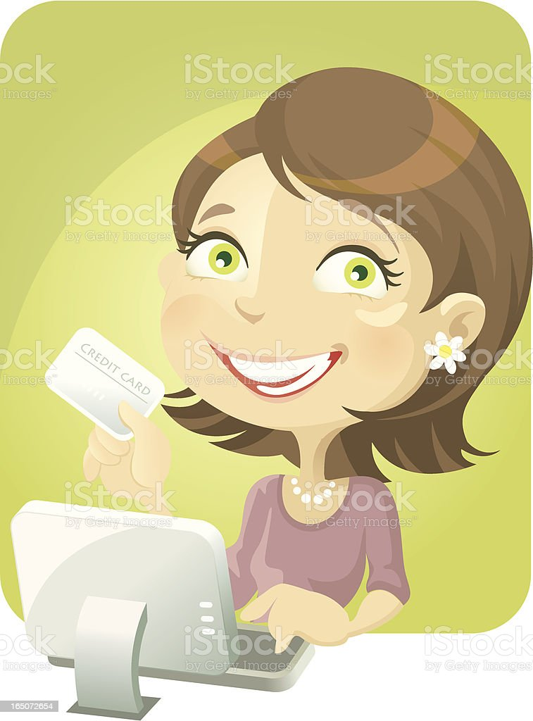 Pay with Credit Card royalty-free stock vector art