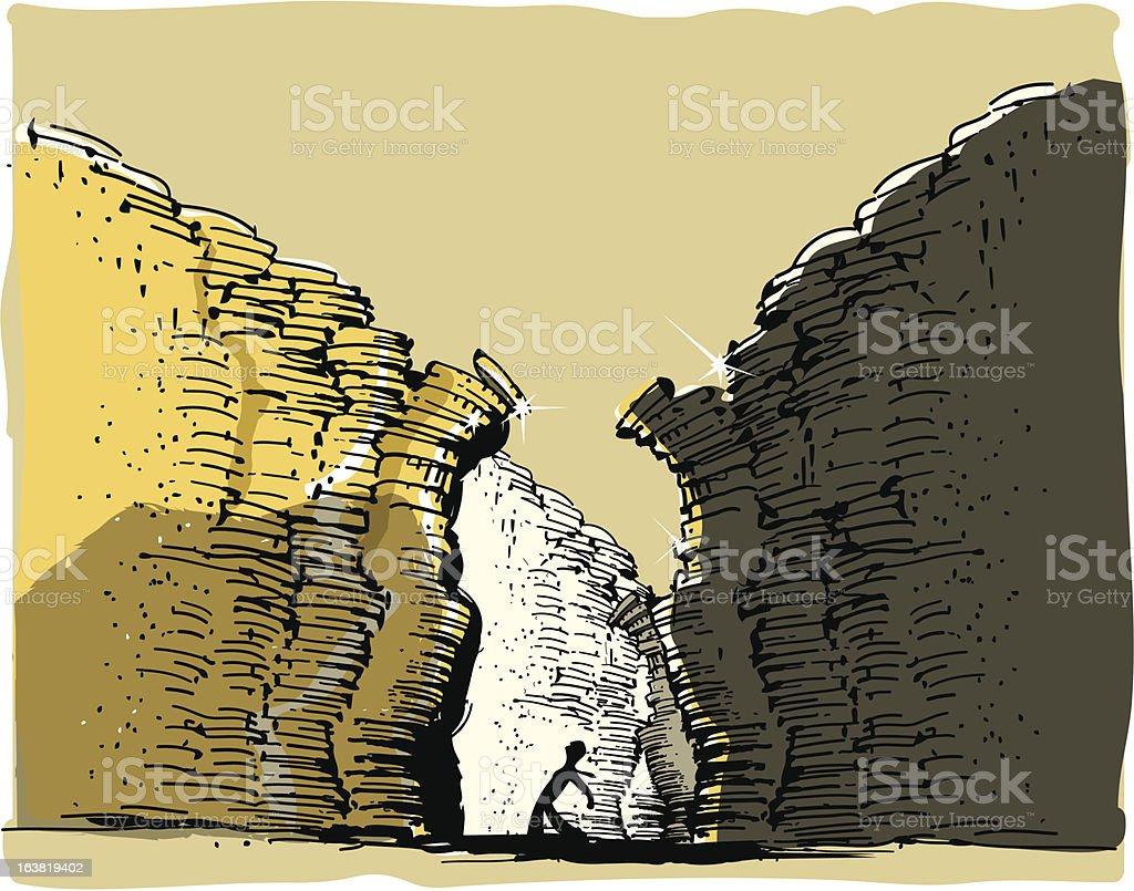 Payback vector art illustration