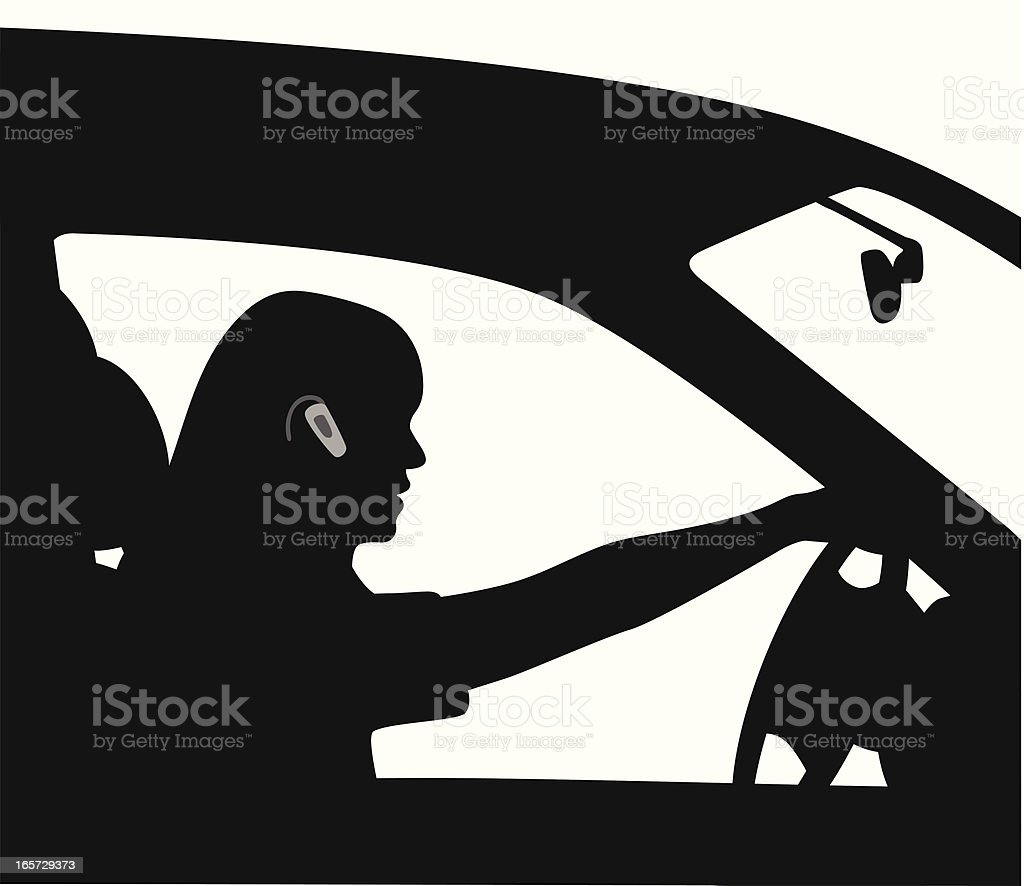 Paying Attention Vector Silhouette vector art illustration