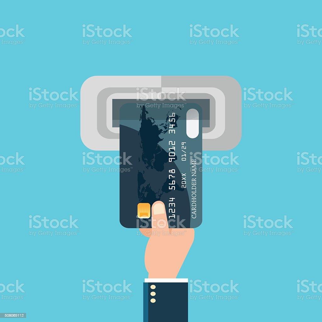 Payment banking finance money. vector art illustration
