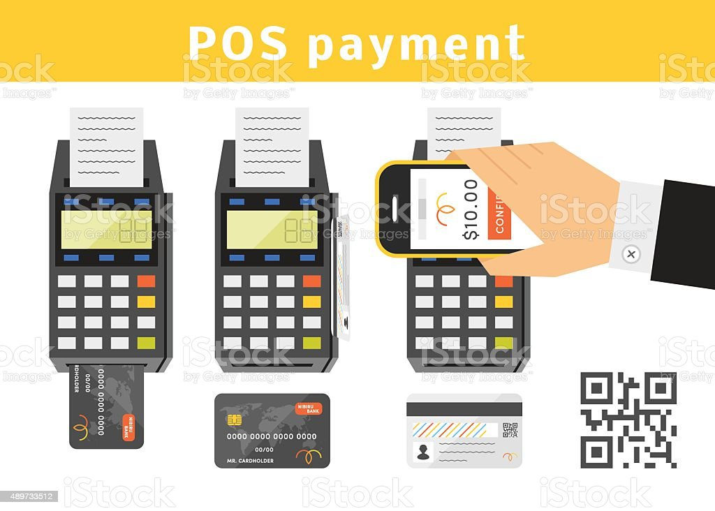 POS payment concept vector art illustration
