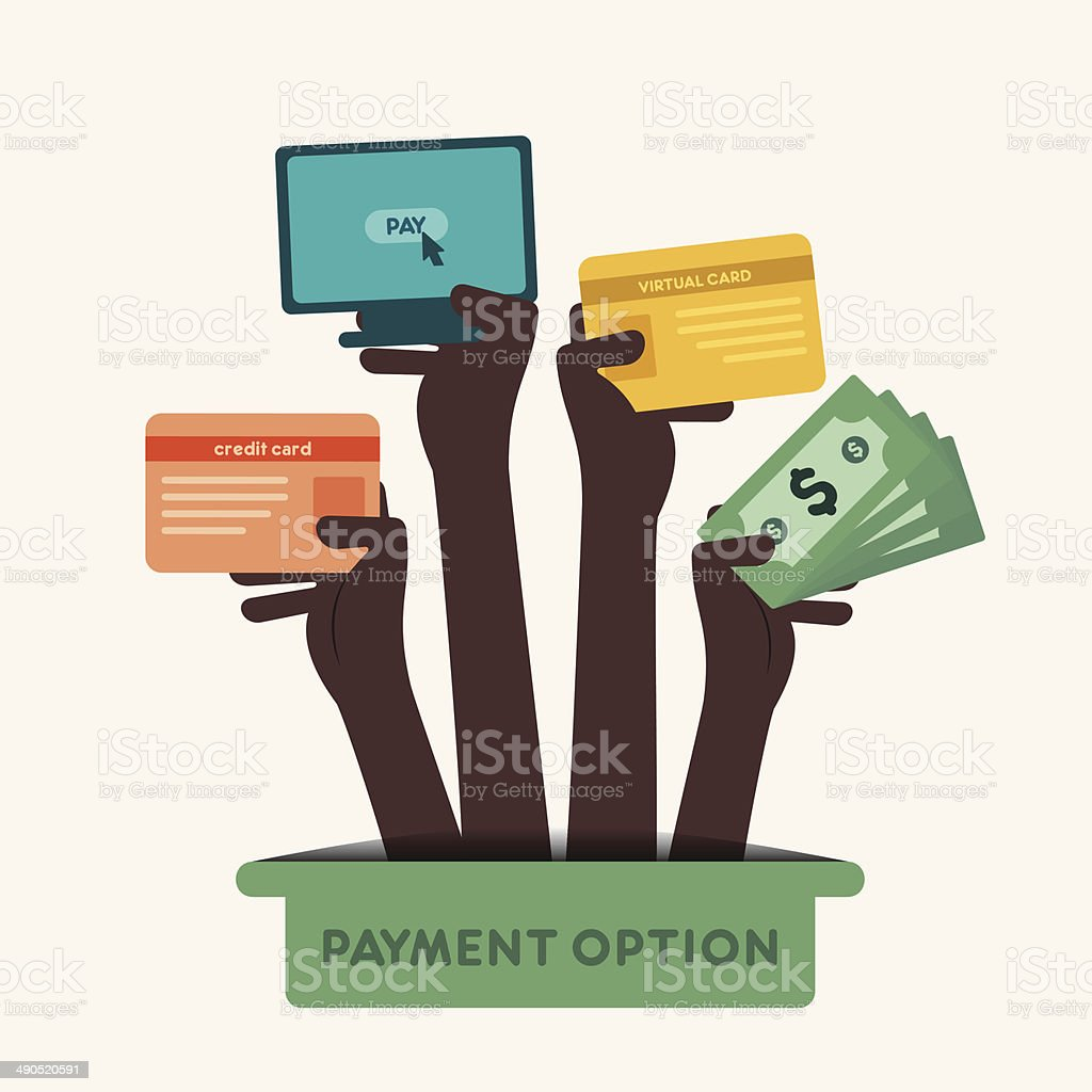 payment option icon vector art illustration