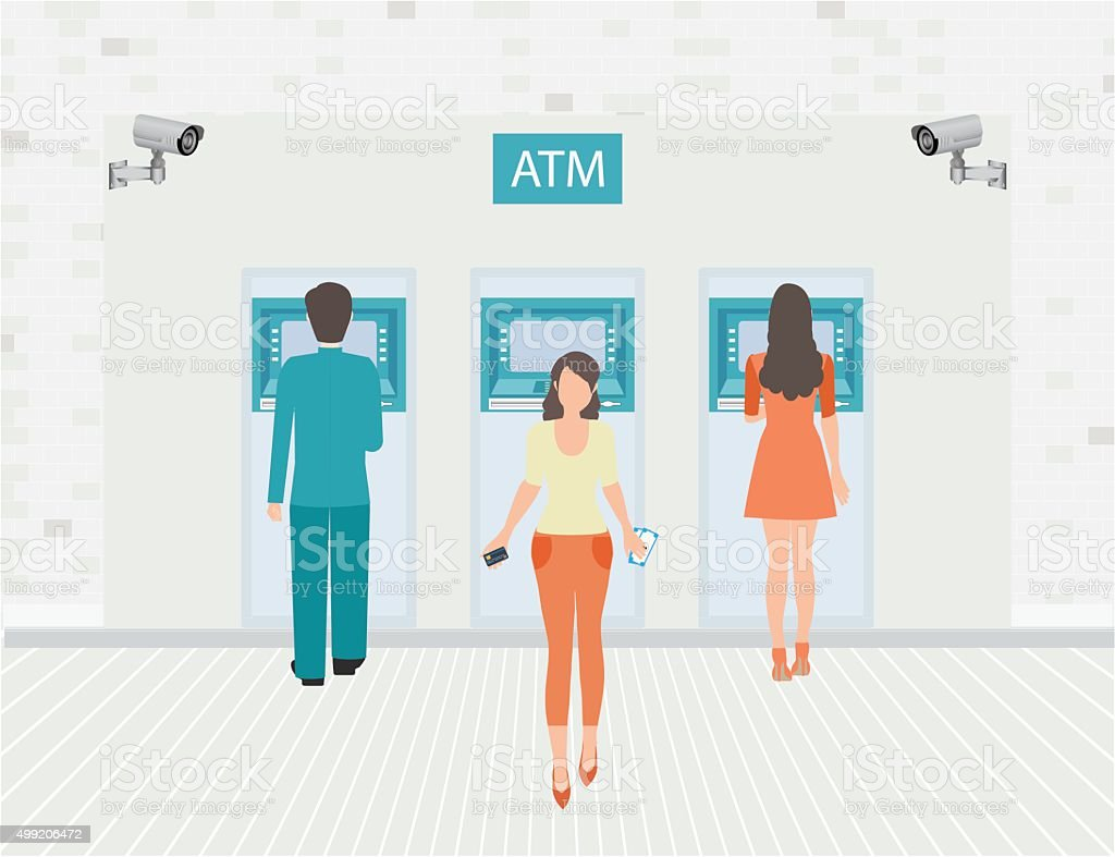 Payment options banking finance money. vector art illustration