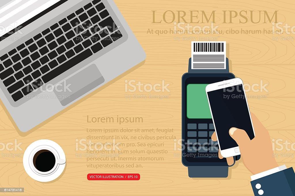 Payment options vector art illustration