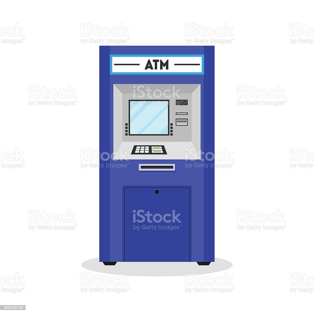 ATM Payment Terminal Auto Teller Machine. Vector vector art illustration