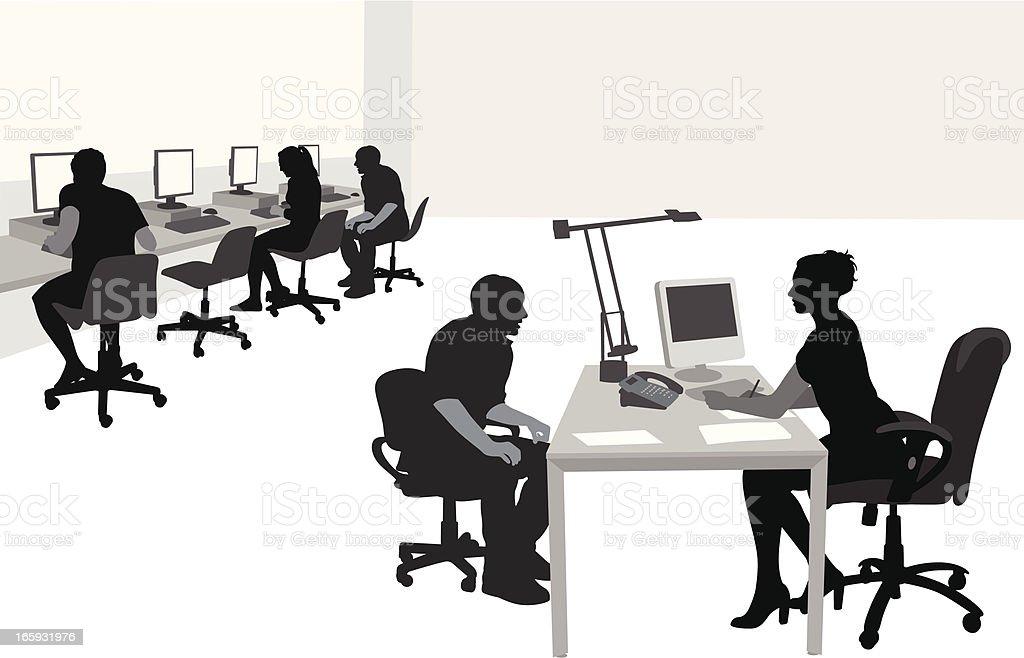 PCroom vector art illustration