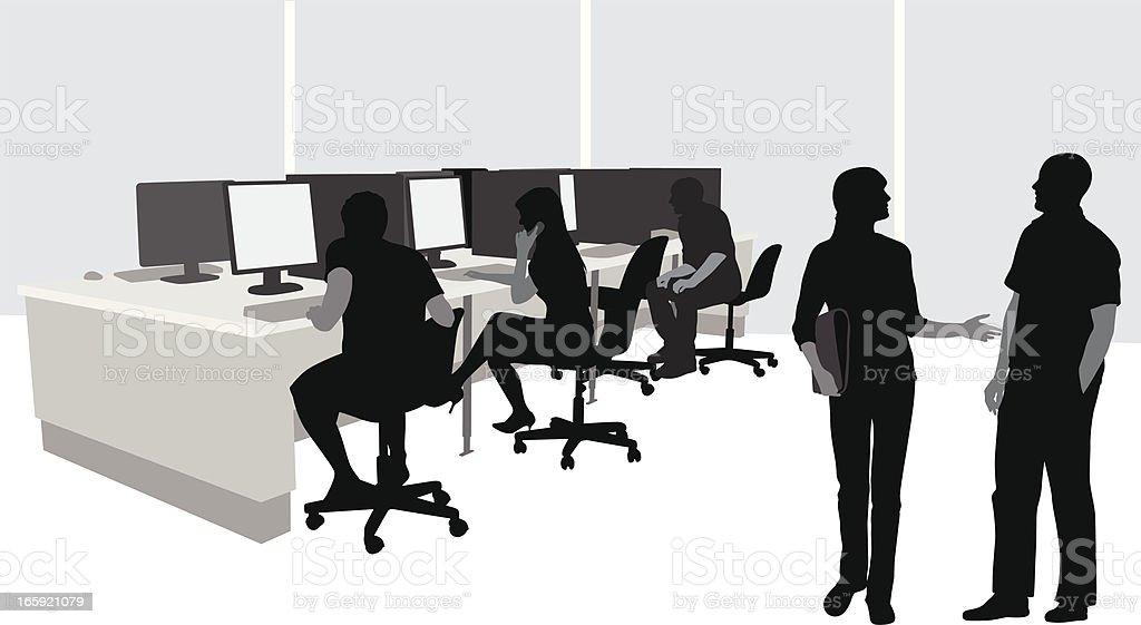 PCs Vector Silhouette royalty-free stock vector art