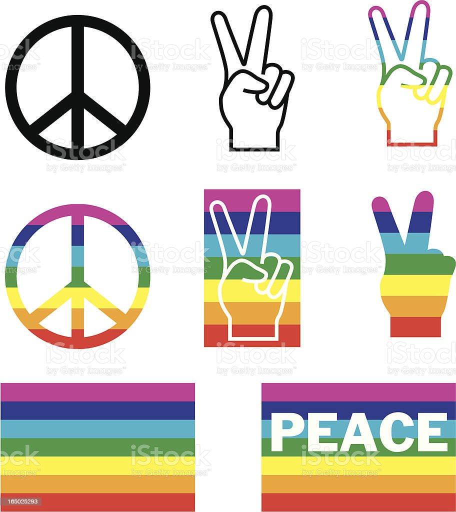 Peace design elements (vector) vector art illustration