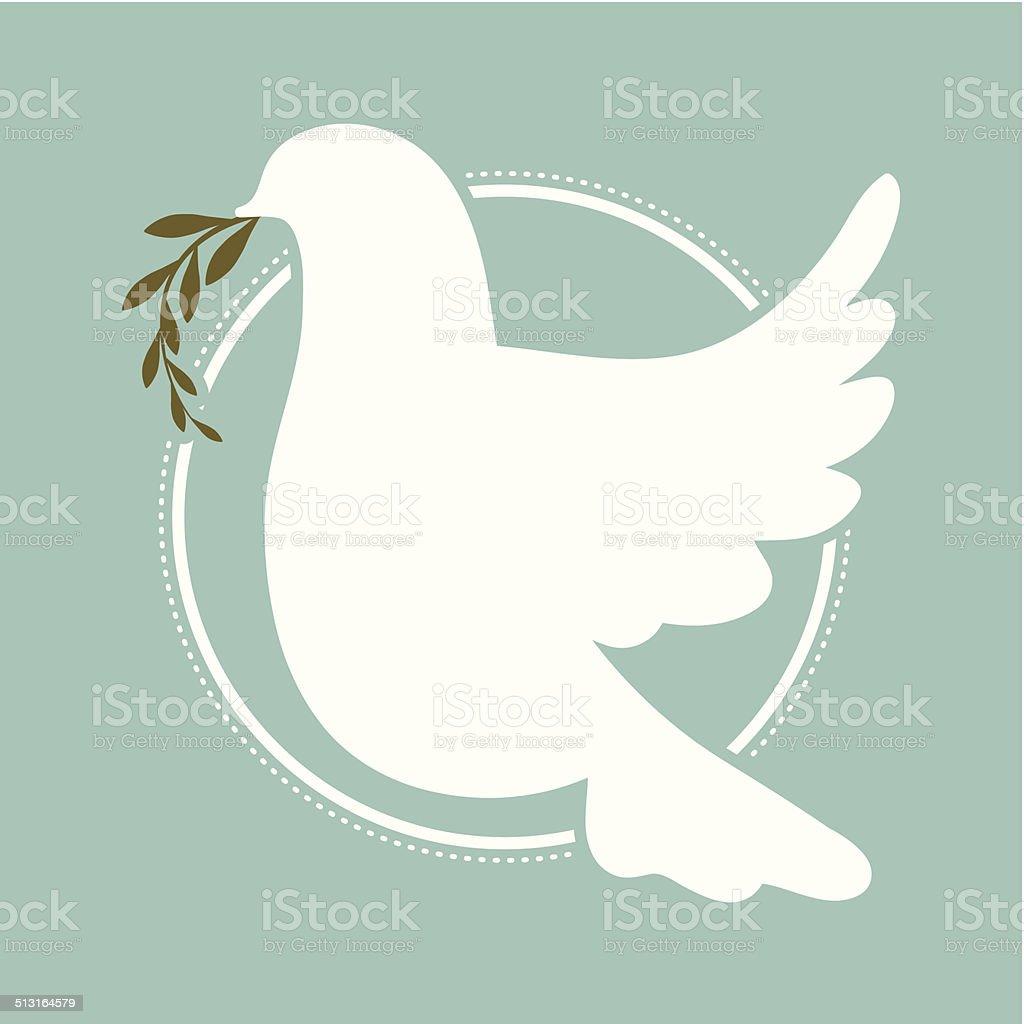 peace design vector art illustration