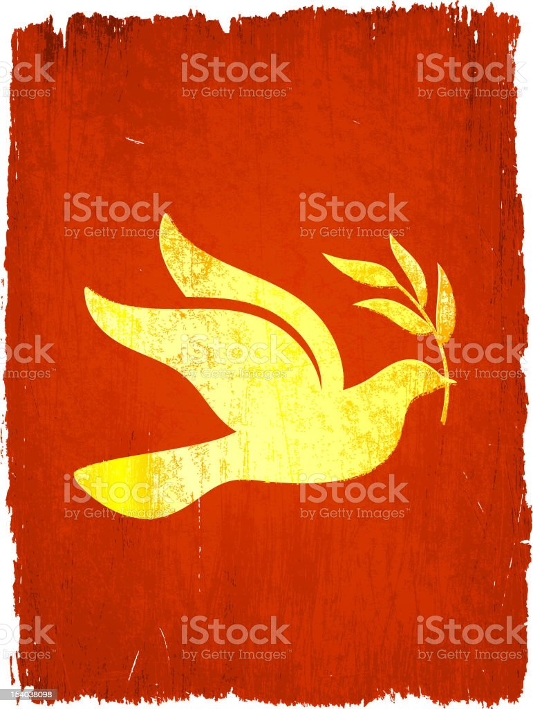 peace dove on royalty free vector Background royalty-free stock vector art