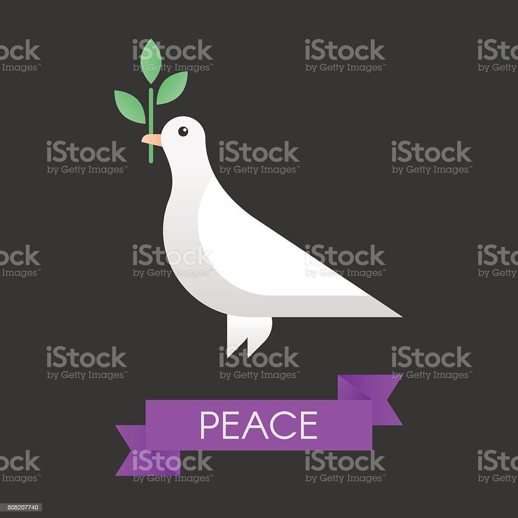 Peace dove vector art illustration