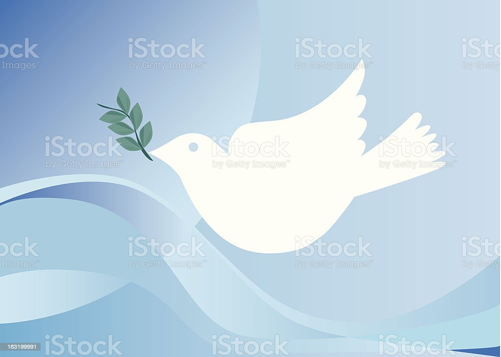Peace dove with olive branch royalty-free stock vector art