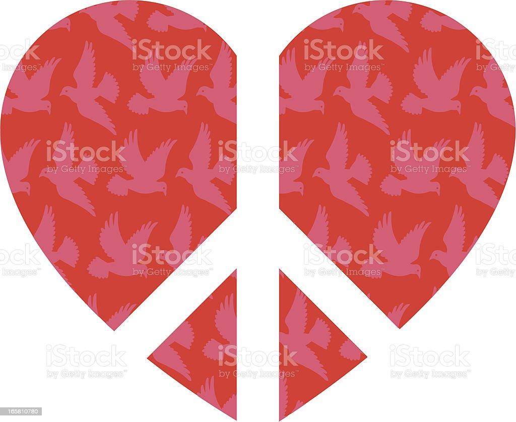 Peace Heart vector art illustration