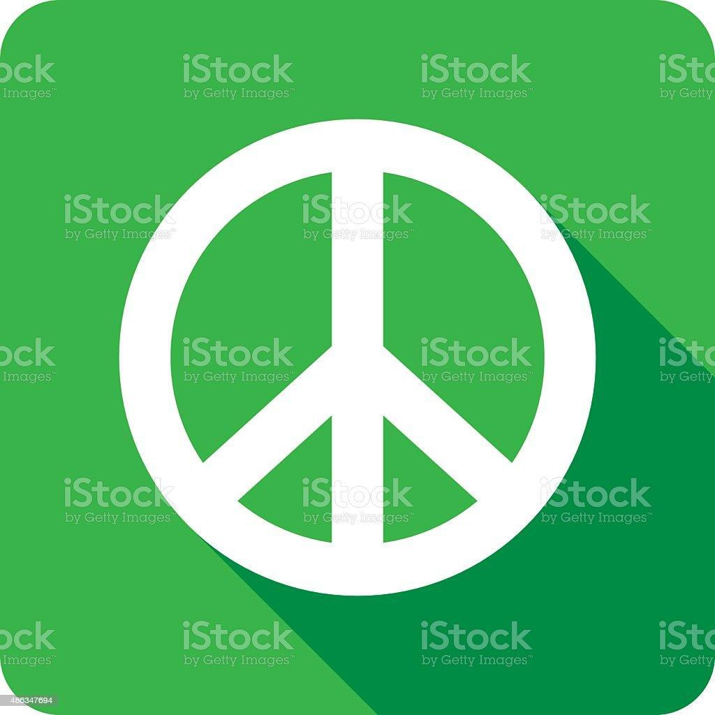 Peace Icon Silhouette vector art illustration
