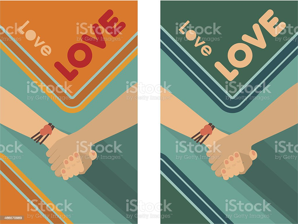 Peace Love Friendship vector art illustration