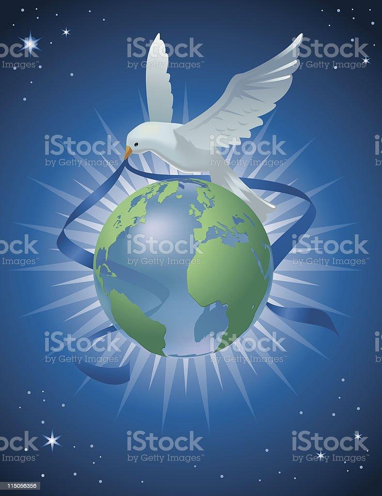 Peace on Earth Dove royalty-free stock vector art