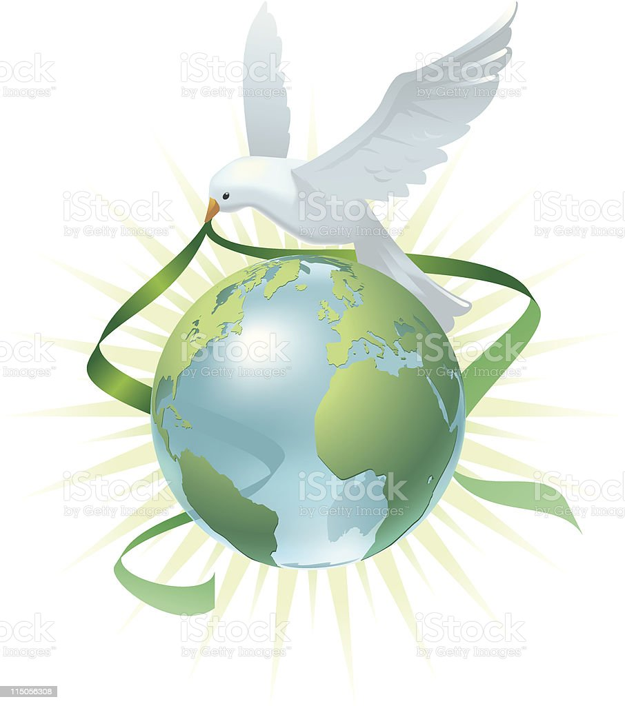 Peace on Earth royalty-free stock vector art