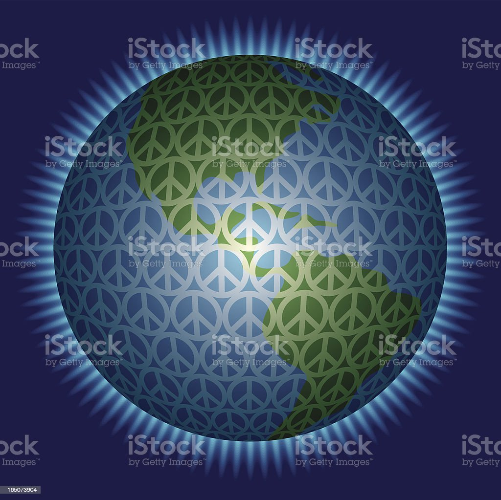 Peace On Earth vector art illustration