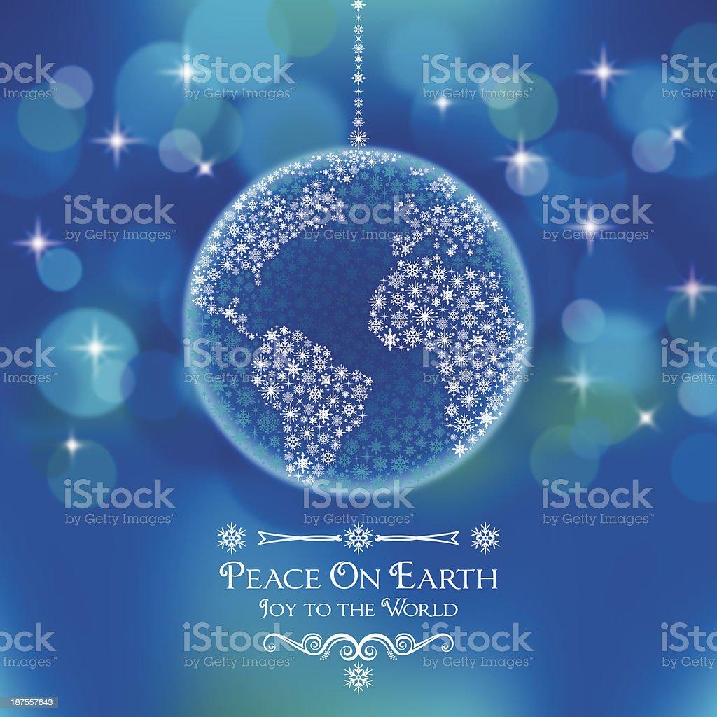 Peace On Earth World Ornament vector art illustration