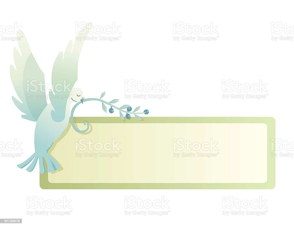 Peace Pigeon royalty-free stock vector art