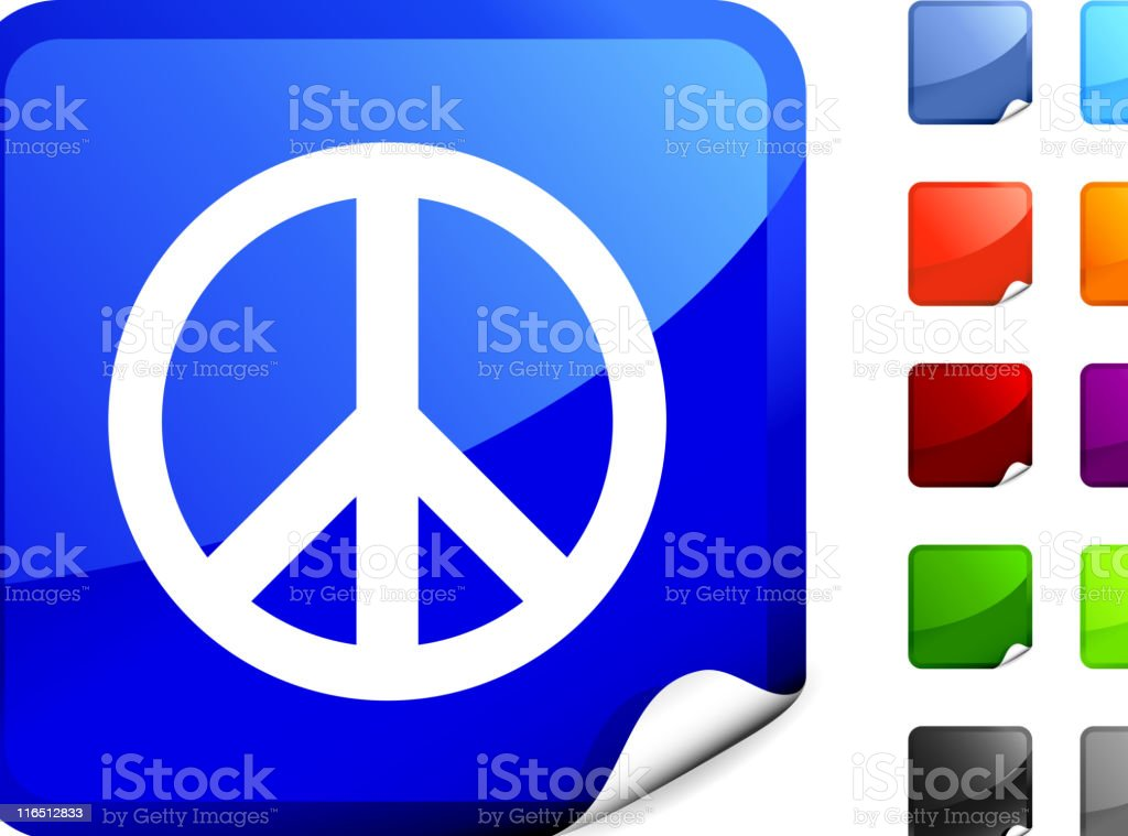 peace royalty free vector art on Blue Sticker royalty-free stock vector art