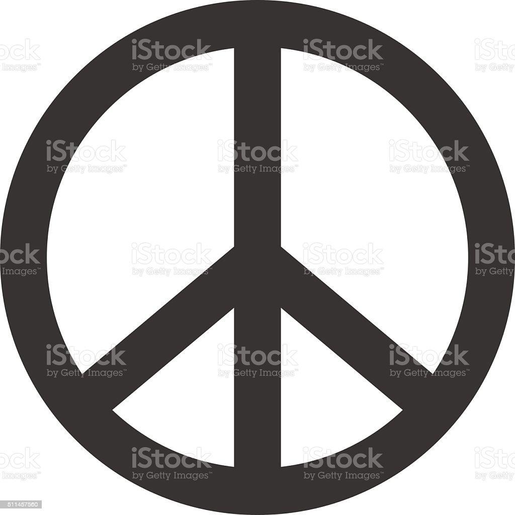 Peace sign. Hippie symbol of peace vector art illustration