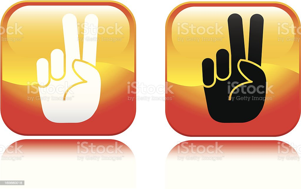Peace Sign Icon royalty-free stock vector art