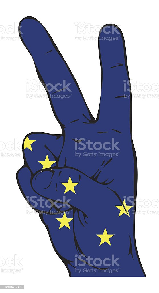 Peace Sign of Alaska flag vector art illustration