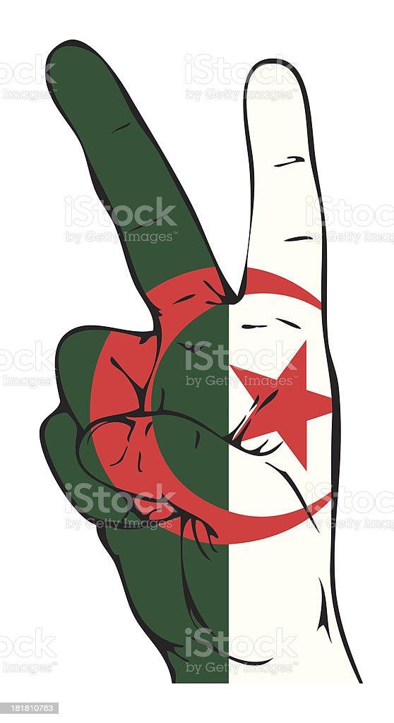 Peace Sign of the Algerian Flag vector art illustration