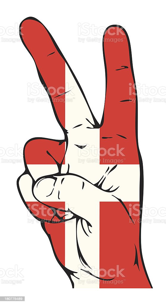 Peace Sign of the Danish flag royalty-free stock vector art