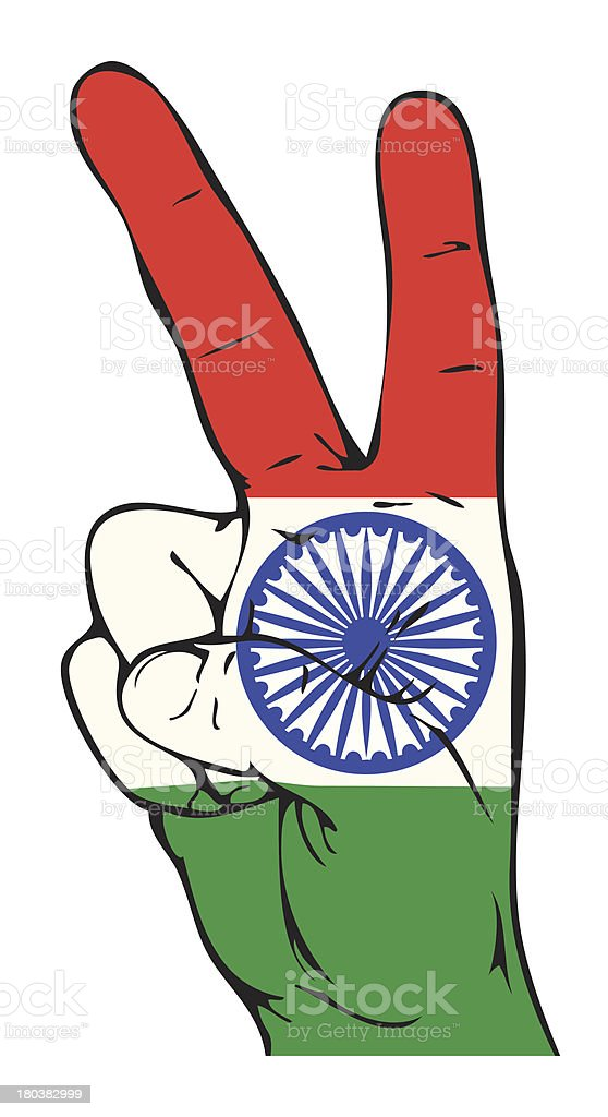Peace Sign of the Indian flag royalty-free stock vector art