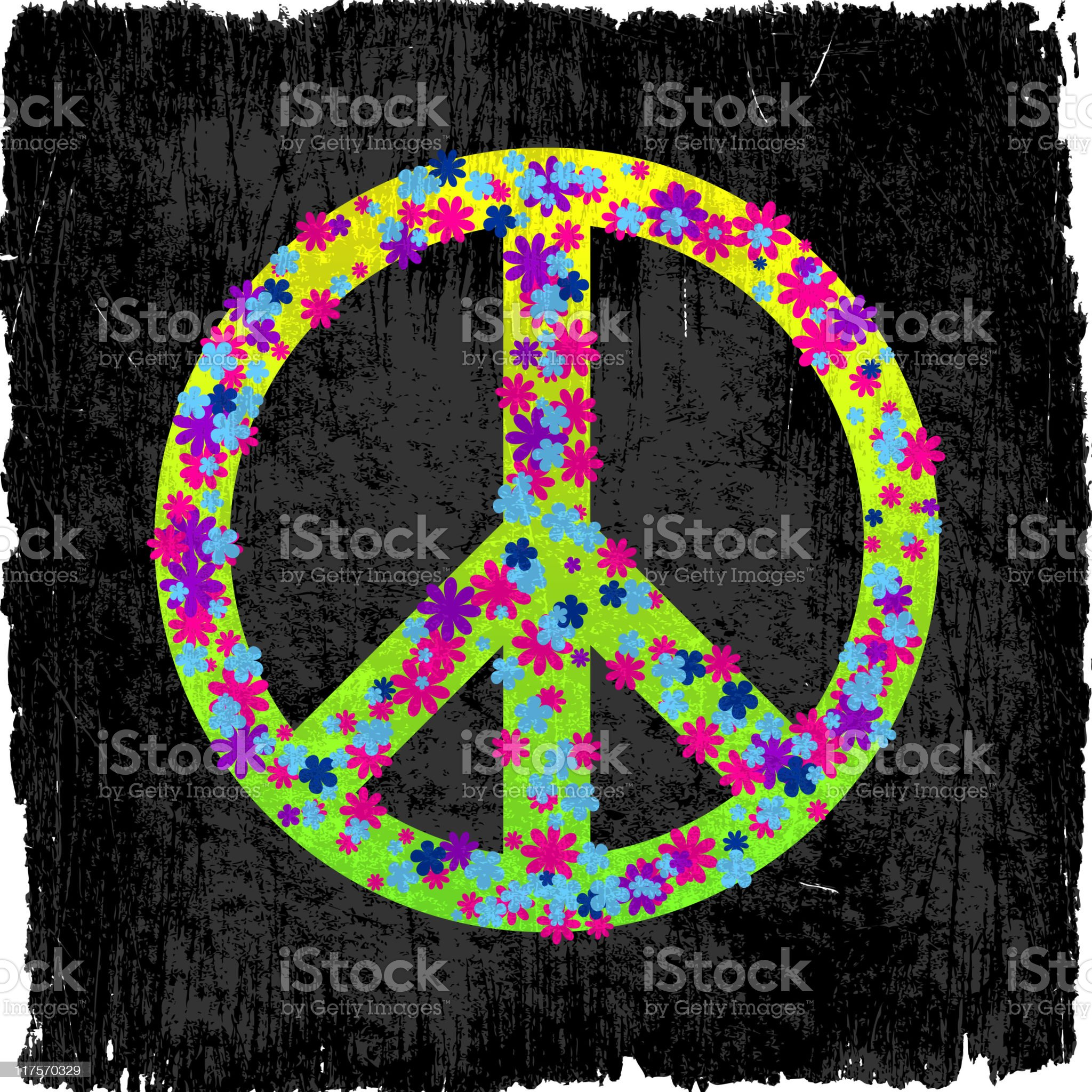 peace sign on royalty free vector Background. royalty-free stock vector art