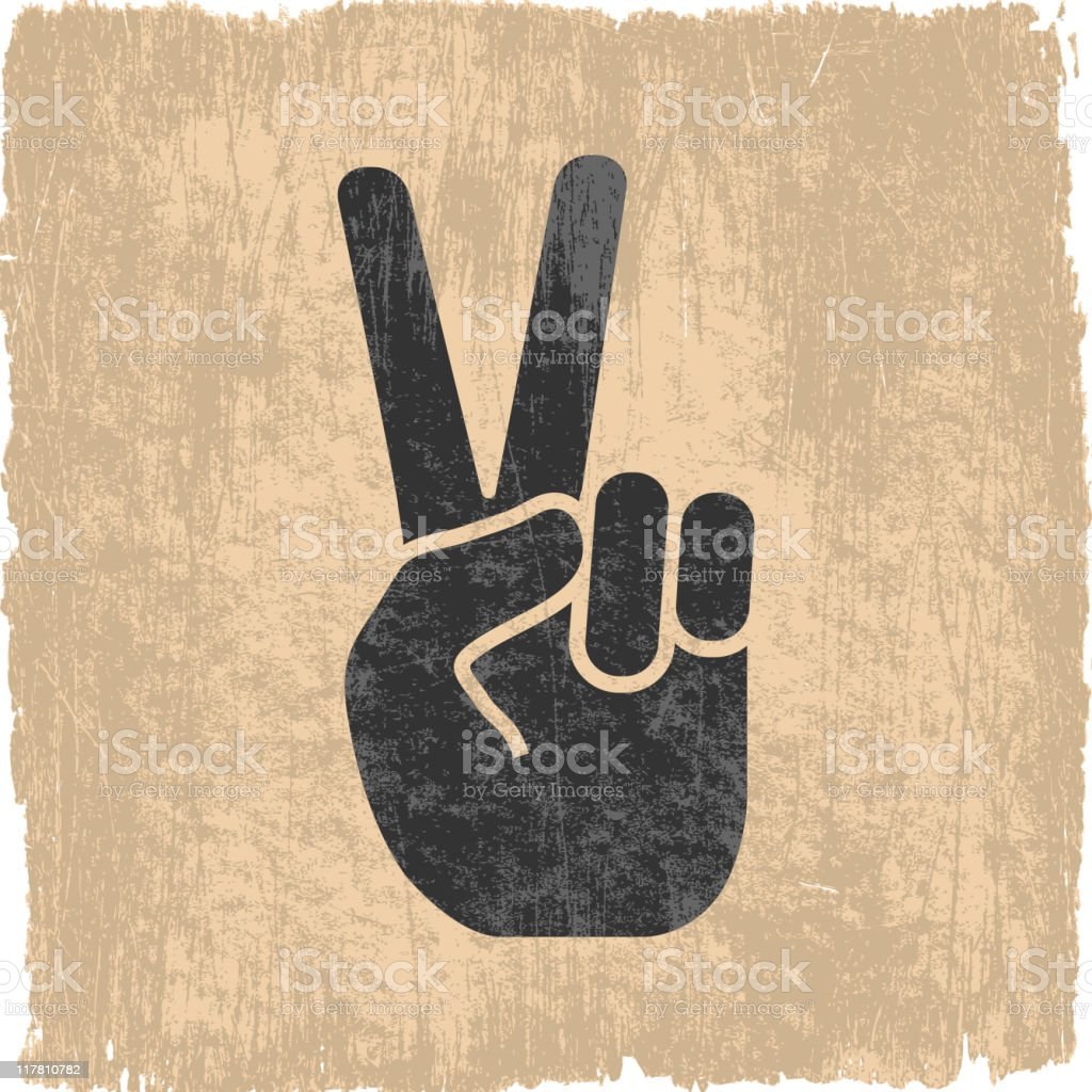 peace sign on royalty free vector Background vector art illustration