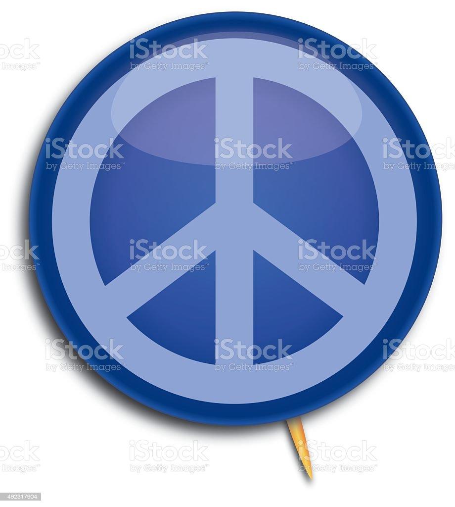 Peace Sign Pin vector art illustration