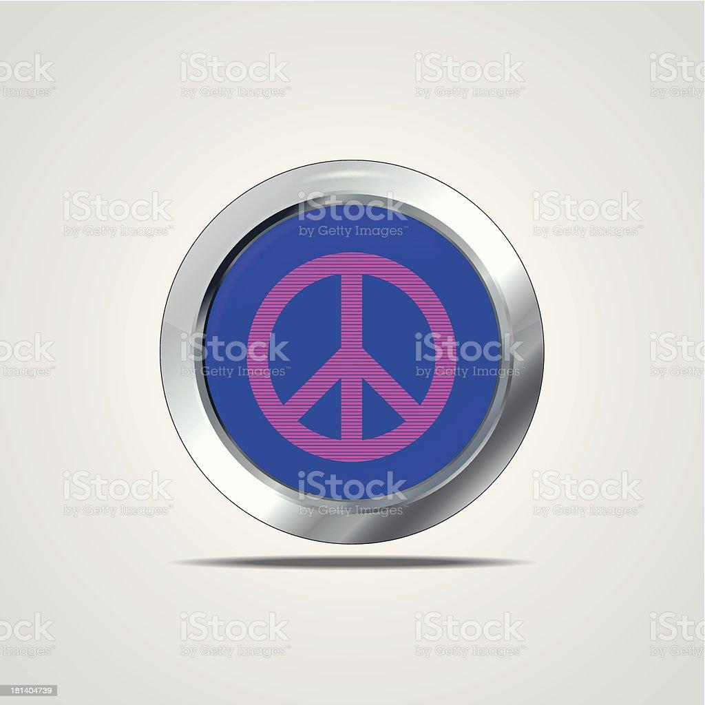 Peace sign vector art illustration