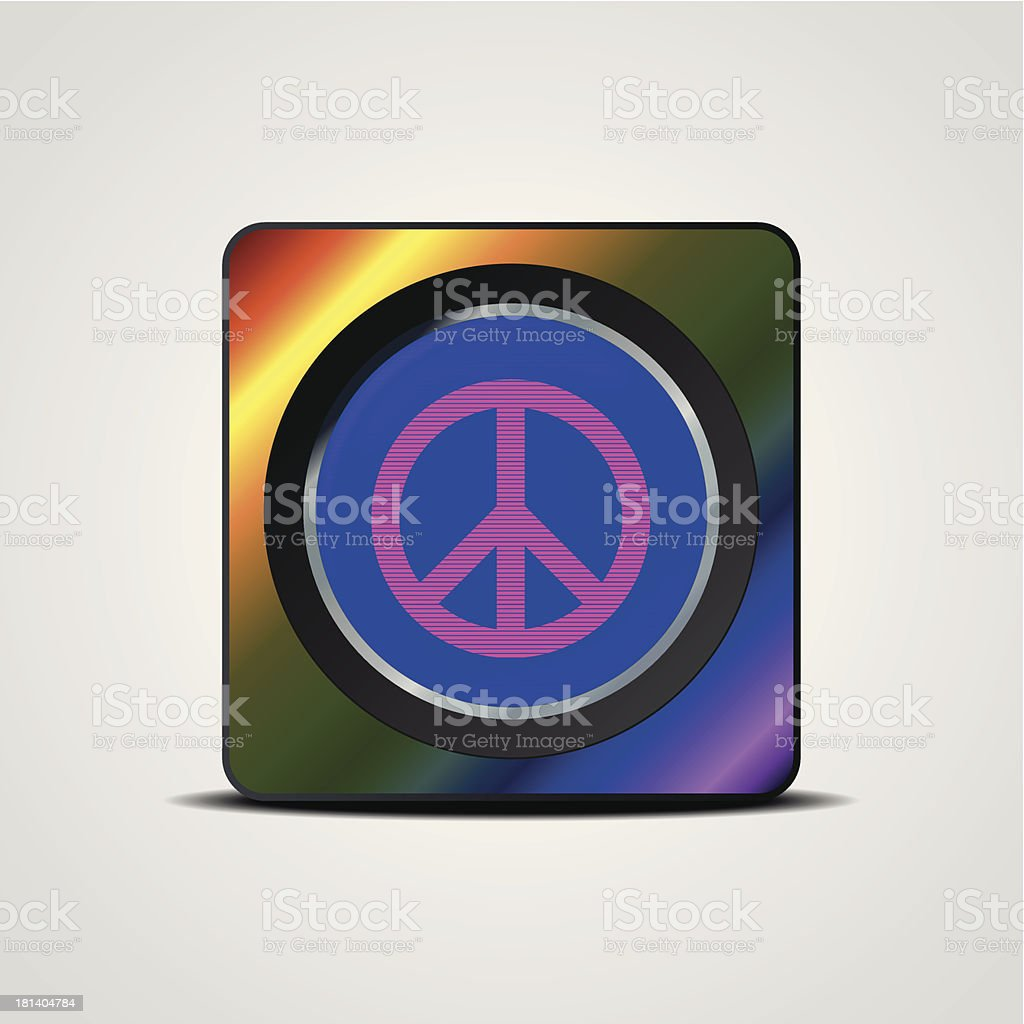 Peace sign royalty-free stock vector art