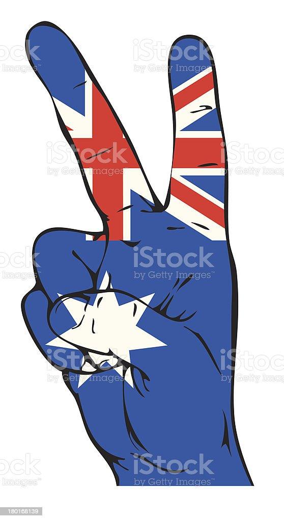 Peace sign with Australian flag royalty-free stock vector art
