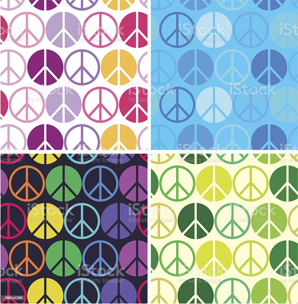 peace symbol seamless pattern royalty-free stock vector art
