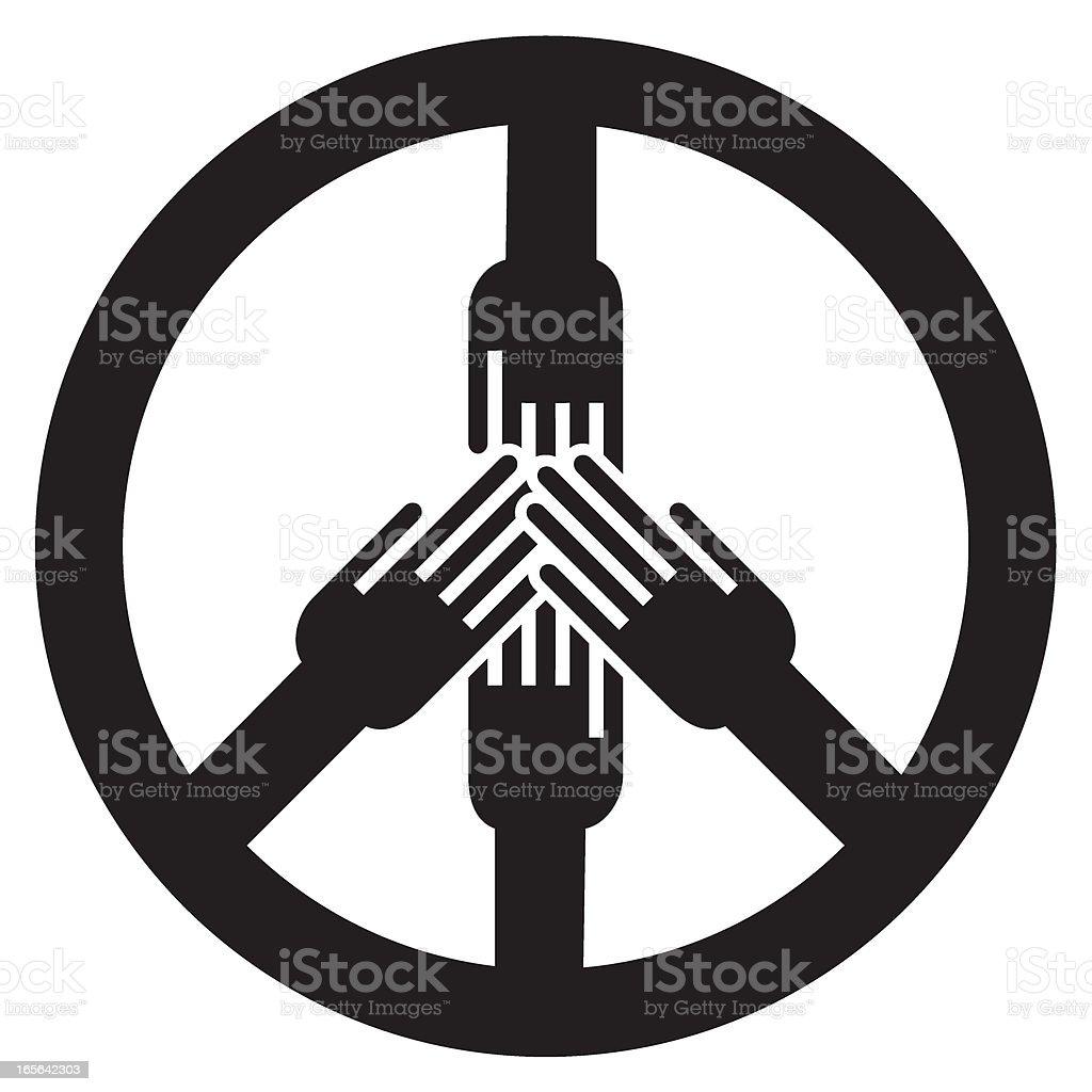 Peace symbol royalty-free stock vector art