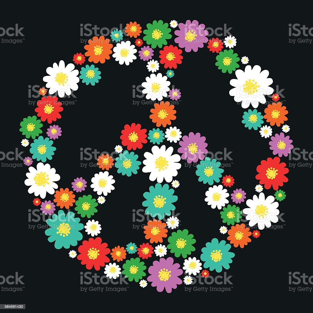 Peace symbol vector art illustration