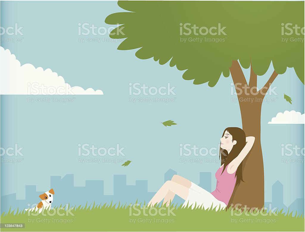 Peaceful Day royalty-free stock vector art