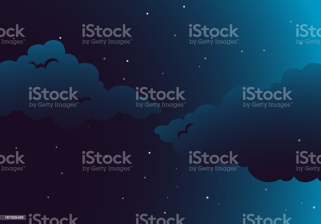 Peaceful night royalty-free stock vector art