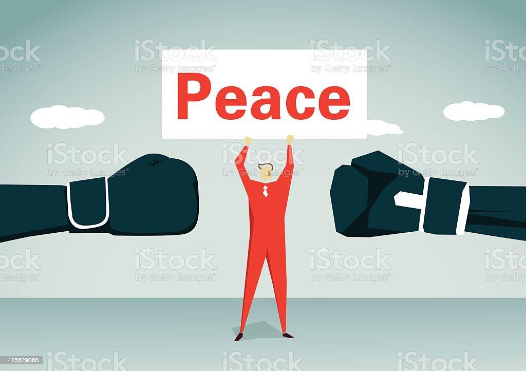 Peace-Illustration vector art illustration