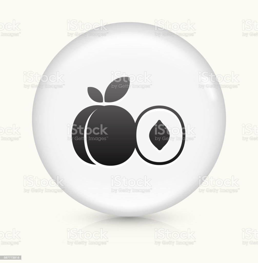 Peach icon on white round vector button vector art illustration