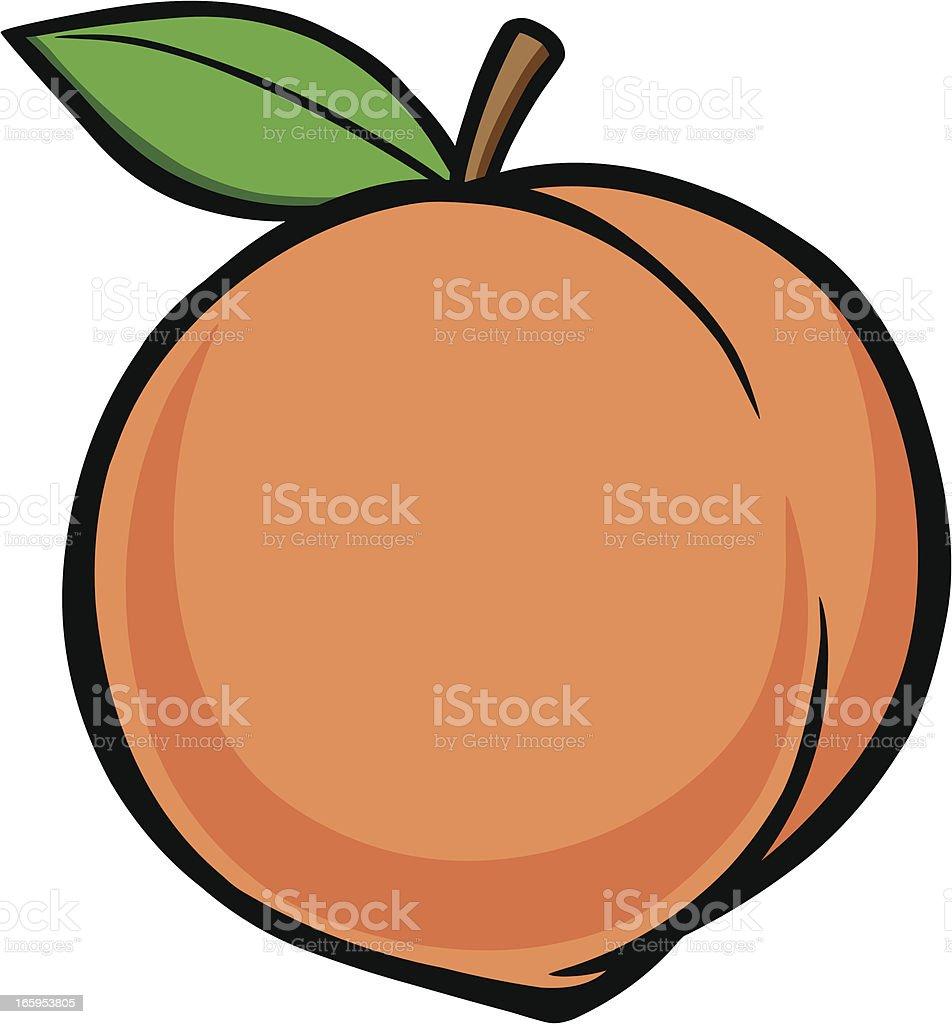 Peach royalty-free stock vector art